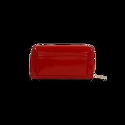 Portafoglio rosso in ecopelle vernice con 10 vani, Borse, 125709023VEROSSUNI, 002 preview