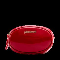 Marsupio in vernice rosso, 113309843VEROSSUNI, 001a