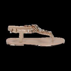 Sandali infradito nude in pvc con strass, Primadonna, 130900001PVNUDE035, 001 preview