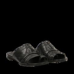 Sandali neri in vera pelle, Primadonna, 137713336PENERO035, 002a