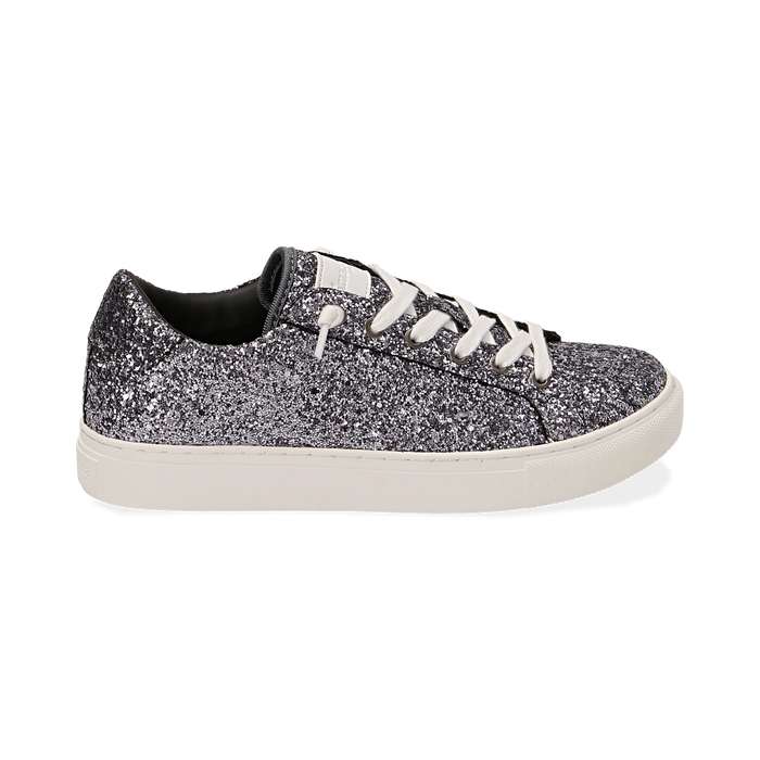 Zapatillas glitter color plata, Primadonna, 162600308GLARGE038