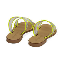 Mules flat gialle in vernice fluo con effetto see through, Primadonna, 136767001VEGIAL036, 004 preview