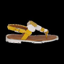 Sandali flat gialli in eco-pelle, Primadonna, 136102170EPGIAL036, 001 preview