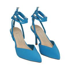 Destalonado azul satinado, tacón 8 cm, Primadonna, 172106281LYTURC036, 002a