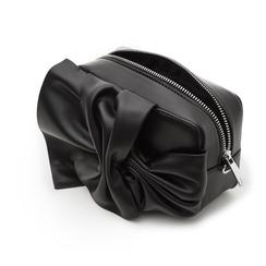 Camera bag nera in eco-pelle con fiocco, Borse, 132300505EPNEROUNI, 004 preview
