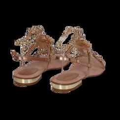 Sandali gioiello flat nude in microfibra, Primadonna, 134994222MFNUDE036, 004 preview