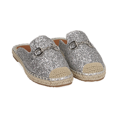 Slippers argento glitter, Chaussures, 154951159GLARGE036, 002 preview