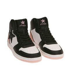 Sneakers nero/rosa , Primadonna, 182621186EPNERA035, 002a
