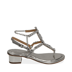WOMEN SHOES SANDAL LAMINATED ARGE, Chaussures, 154927101LMARGE035, 001a
