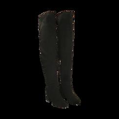 Stivali overknee neri, tacco 6,50 cm , Primadonna, 164911283MFNERO036, 002 preview
