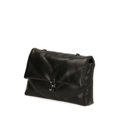 Borsa piccola nera matelassé, IDEE REGALO, 165122864EPNEROUNI, 002a