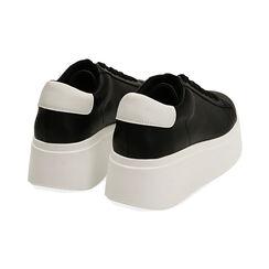Sneakers nere, platform 6,5 cm, Primadonna, 177505101EPNERO036, 004 preview
