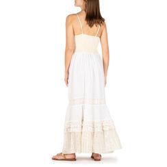 Abito lungo bianco in tessuto, Primadonna, 150503001TSBIANUNI, 002 preview