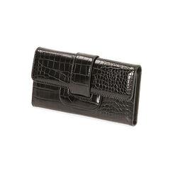 Portafogli nero stampa cocco, Primadonna, 185102538CCNEROUNI, 002 preview