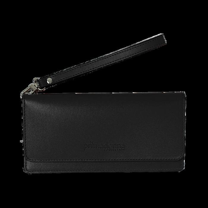 Portafoglio nero in eco-pelle con laccetto per il polso, Borse, 133723651EPNEROUNI