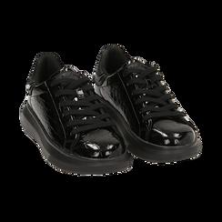 Sneakers noires en vernis, Primadonna, 162602011VENERO035, 002 preview