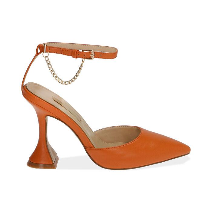 Slingback arancio, tacco 10 cm , Primadonna, 172190575EPARAN035