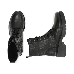 Amphibiens noirs en cuir, Primadonna, 169404101PENERO037, 003 preview