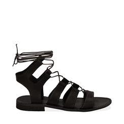 Sandales noir en cuir de vache, Primadonna, 178100348VANERO035, 001a