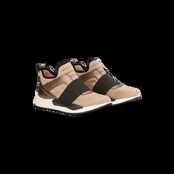 Sneakers rosa nude in lycra con fascia elastica, Primadonna, 121617843LYNUDE, 002 preview