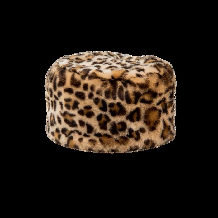 Colbacco leopard in eco-pelliccia, Saldi Abbigliamento, 12B413001FULEOP