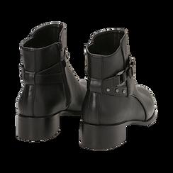Ankle boots neri in eco-pelle, tacco 4 cm , Scarpe, 143098118EPNERO036, 004 preview