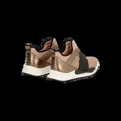 Sneakers rosa nude in lycra con fascia elastica, Primadonna, 121617843LYNUDE, 005 preview