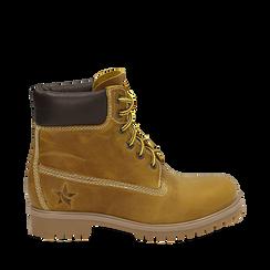 Botas en nabuk color amarillo, Primadonna, 16H220021NBGIAL037, 001a