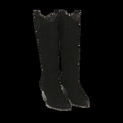 Camperos neri in camoscio, 5,50 cm , Primadonna, 16A500902CMNERO036, 002a
