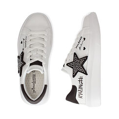 Sneaker bianche con stella, Primadonna, 172621010EPBIAN035, 003 preview