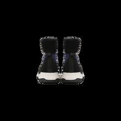 Sneakers nero-blu sock boots con suola in gomma bianca, Scarpe, 124109763TSNEBL, 003 preview