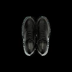 Francesine stringate nera con mini-borchie e lavorazione Duilio, Primadonna, 120682916EPNERO, 004 preview