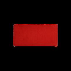 Pochette rossa in microfibra , Borse, 165122502MFROSSUNI, 003 preview