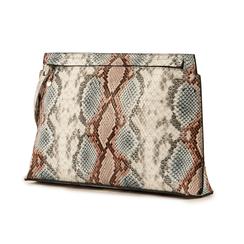 Pochette en eco-piel con estampado de serpiente color celeste, Bolsos, 15D208516PTCELEUNI, 004 preview