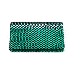 Pochette verde a rete in ecopelle effetto specchio, Primadonna, 123308810SPVERDUNI, 001 preview