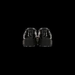 Francesine stringate vernice nera dettagli lavorazione Duilio, Scarpe, 120639061VENERO, 003 preview
