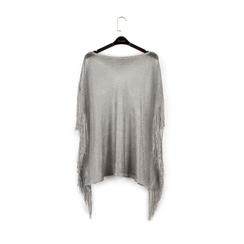 Poncho argento retinato, Vêtements, 15B402918TSARGEUNI, 002a