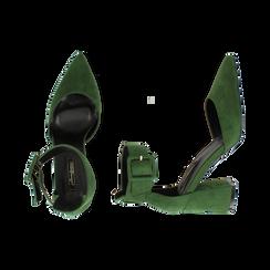 Décolleté verdi in microfibra, tacco 8 cm, Primadonna, 164823062MFVERD036, 003 preview