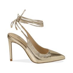 WOMEN SHOES CHANEL LAMINATED OROG, Primadonna, 152120715LMOROG036, 001 preview