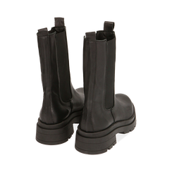 Botines Chelsea negro en piel, tacón 5 cm, Primadonna, 167277044PENERO035, 004 preview