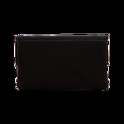 Pochette nera in microfibra, Saldi, 123308722MFNEROUNI, 002 preview