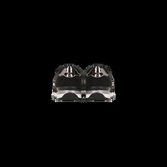 Sneakers nere dettagli glitter e metallizzati , Scarpe, 121308201LMNERO, 003 preview