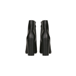 Tronchetti neri con punta affusolata, tacco 10,5 cm, Scarpe, 128485105EPNERO, 003 preview