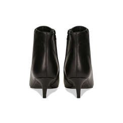 Tronchetti neri in vera pelle, tacco a rocchetto 6 cm, Primadonna, 12D618402VINERO, 003 preview