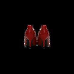 Décolleté rosse con punta affusolata, tacco medio 7,5 cm, Primadonna, 122111552EPROSS, 003 preview