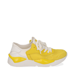 Dad shoes gialle in tessuto tecnico , Sneakers, 15F609059TSGIAL035, 001a