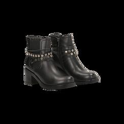 Stivaletti Chelsea neri con fascia elastica, Primadonna, 120618215EPNERO, 002 preview