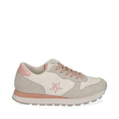 Sneakers bianche in tessuto , Primadonna, 170620011TSBIAN035, 001a