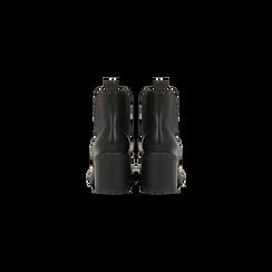 Chelsea Boots neri, tacco 3 cm, Scarpe, 120683012EPNERO, 003 preview