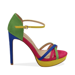 CALZATURA SANDALO MICROFIBRA MULT, Chaussures, 152118123MFMULT038, 001a